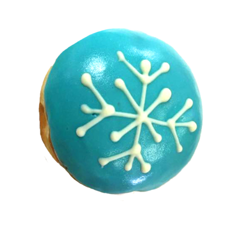 Snowflake - Marshmallow filling with baby blue fudge - R18