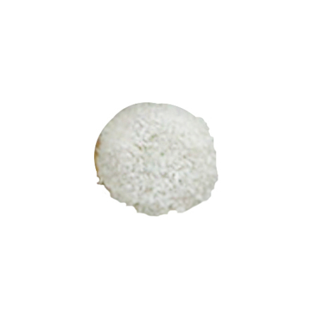 Coconut ice White Chocolate fudge glaze topped with coconut & filled with a vanilla filling
